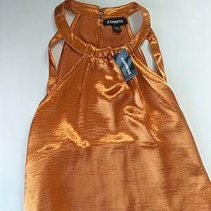 Express Metallic Orange Top